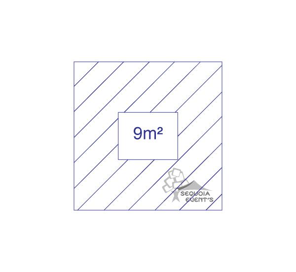 chapiteau 9m carré